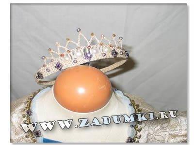 Корона принцессы своими руками из бисера