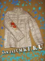 Цветы на рукаве куртки (hand made)