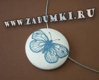 Украшение из значка Бабочка (hand made).
