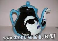 Чайник с Бобом Диланом (hand made)