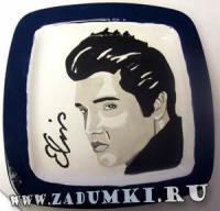 Тарелка с вечным Элвисом (hand made)