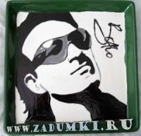 Тарелка с Боно из U2 (hand made)