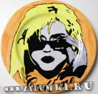 Тарелка Blondie (hand made)