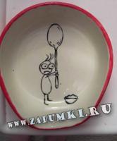 Мальчик с ложкой на тарелке (hand made)