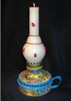 Свечи с ручной росписью