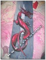 Дракон на рокерских джинсах (hand-made)
