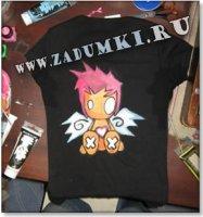 Сладкий ангелочек на футболке (hand made)