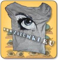 Третий глаз на футболке (hand made)