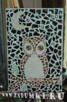 Мозайка Сова с глазами (hand made)
