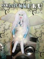 Кукла ангел в шубе (hand made)