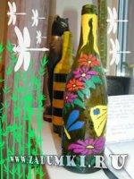 Цветочная бутылка (hand made)