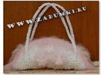 Свадебная вязаная сумочка (hand made)