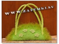 Зеленая сумочка (hand made)