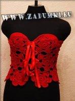 Красный корсет Moulin Rouge (hand made)