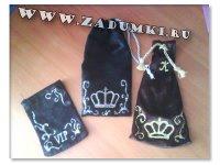 Чехол для мобильника с коронами (hand made)