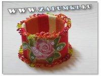 Браслет из бабины от пряжи или скотча (hand made)