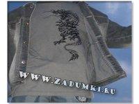 Дракон на футболке (hand made)