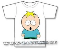 "South Park. Leopold ""Butters"" Stoch. Трафарет. (hand made)"