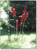 Новая фенечка на садовом участке - цветы из ваз и прутьев (hand made)