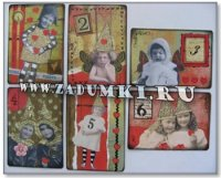Часы из сувенирных карт (hand made).