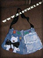 Сумка из джинсовой юбки (hand made)