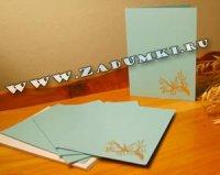 Коллекция открыток. Технология надписей с помощью лазерного принтера и бронзового порошка (hand made)