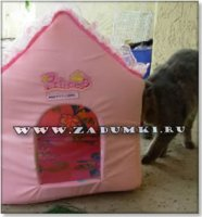 Домик-пуффик для кошки (hand made)