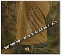 Осьминог на футболке (hand made)