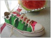 Арбузные кроссовки (hand made)