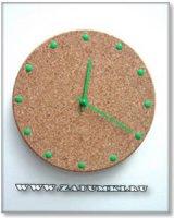 Часы из канцелярских кнопок (hand made)