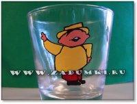 Набор стаканчиков с веселыми человечками (hand made)