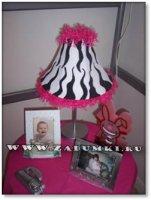 Лампа - мохнатая зебра (hand made)