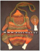 Сумка-курица и кошелек - куриная ножка (hand made)