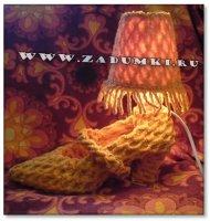 Оранжевая лампа-туфелька (hand made)