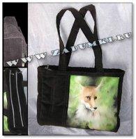 Хитрый лис на сумке (hand made)