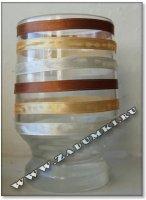 Атласные ленты на стакане (hand made)