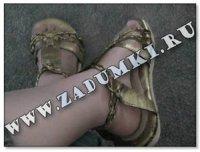 Туфли для гладиаторши (hand made)