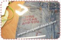 Надписи на джинсы, футболки и трусы :-) с помощью струйного принтера и акрилового маркера