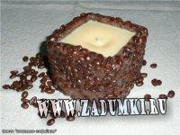Свеча Ванильно-кофейная (hand made)
