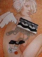 Ожерелье Грешный Ангел на цепочке (hand made)