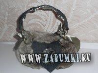 Меховая сумочка (hand made)