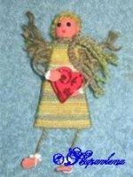 Ангелы, дарящие сердца (hand made)