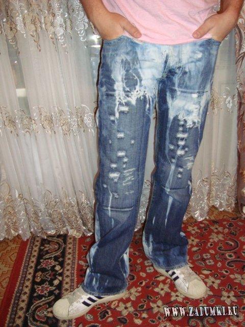 Как сделать свои джинсы прикольные 849