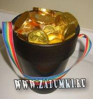 Горшок с золотом на День Святого Патрика
