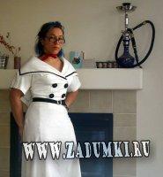 Белое винтажное платье. Ретро возвращается.