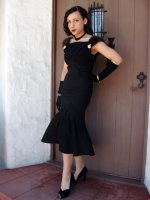 Винтажное платье в стиле 40 годов (hand made)