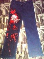 джинсы с черепом