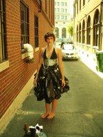 Платье из мусорных мешков (hand made)