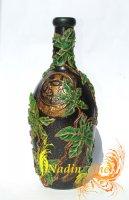 """Бутылка """"Листья винограда"""""""