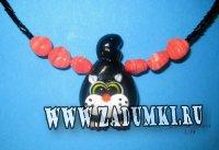 Кулон Черный кот (Lampwork) 550 рублей
